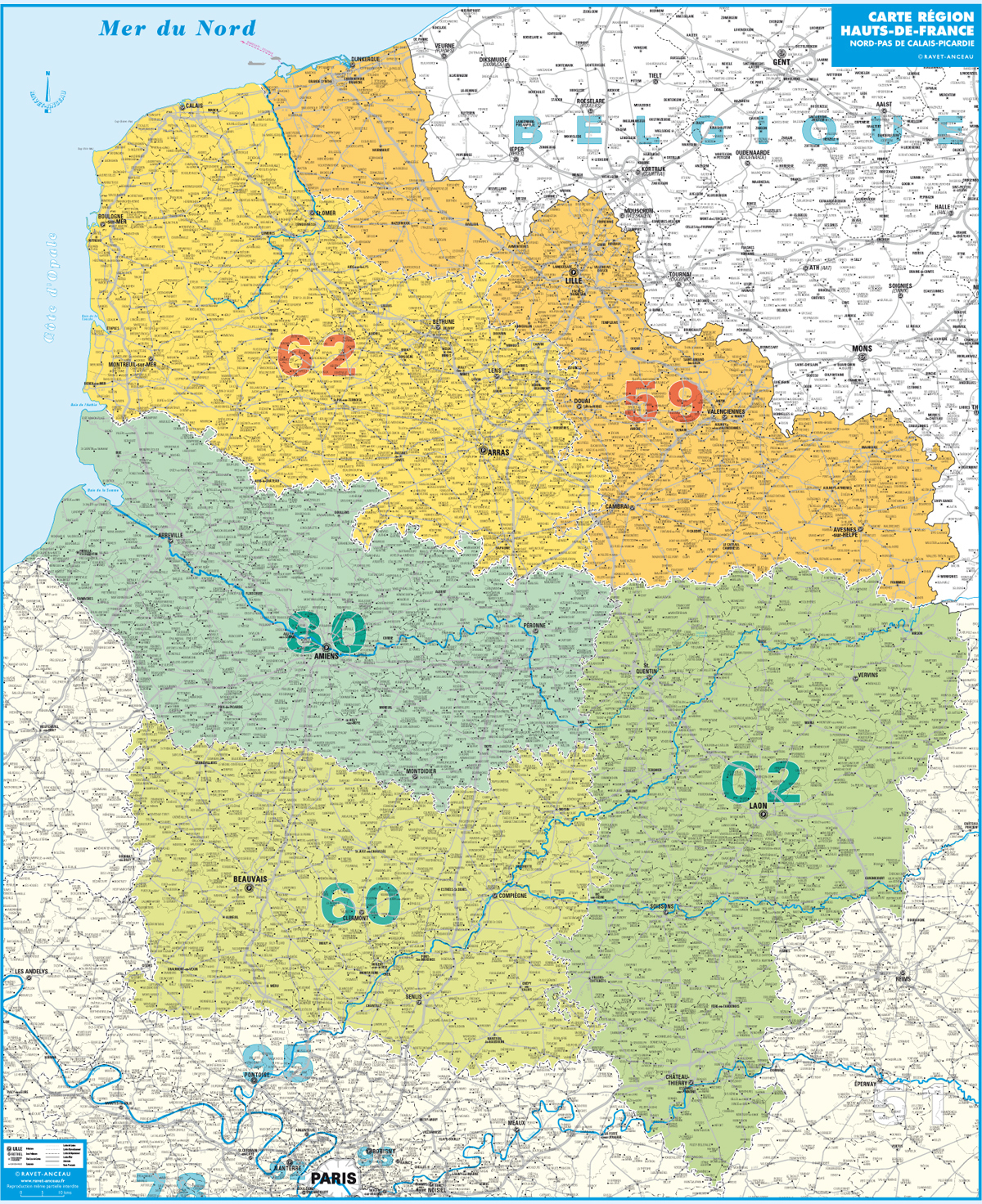 Carte Hauts-De-France tout Carte De La France Région