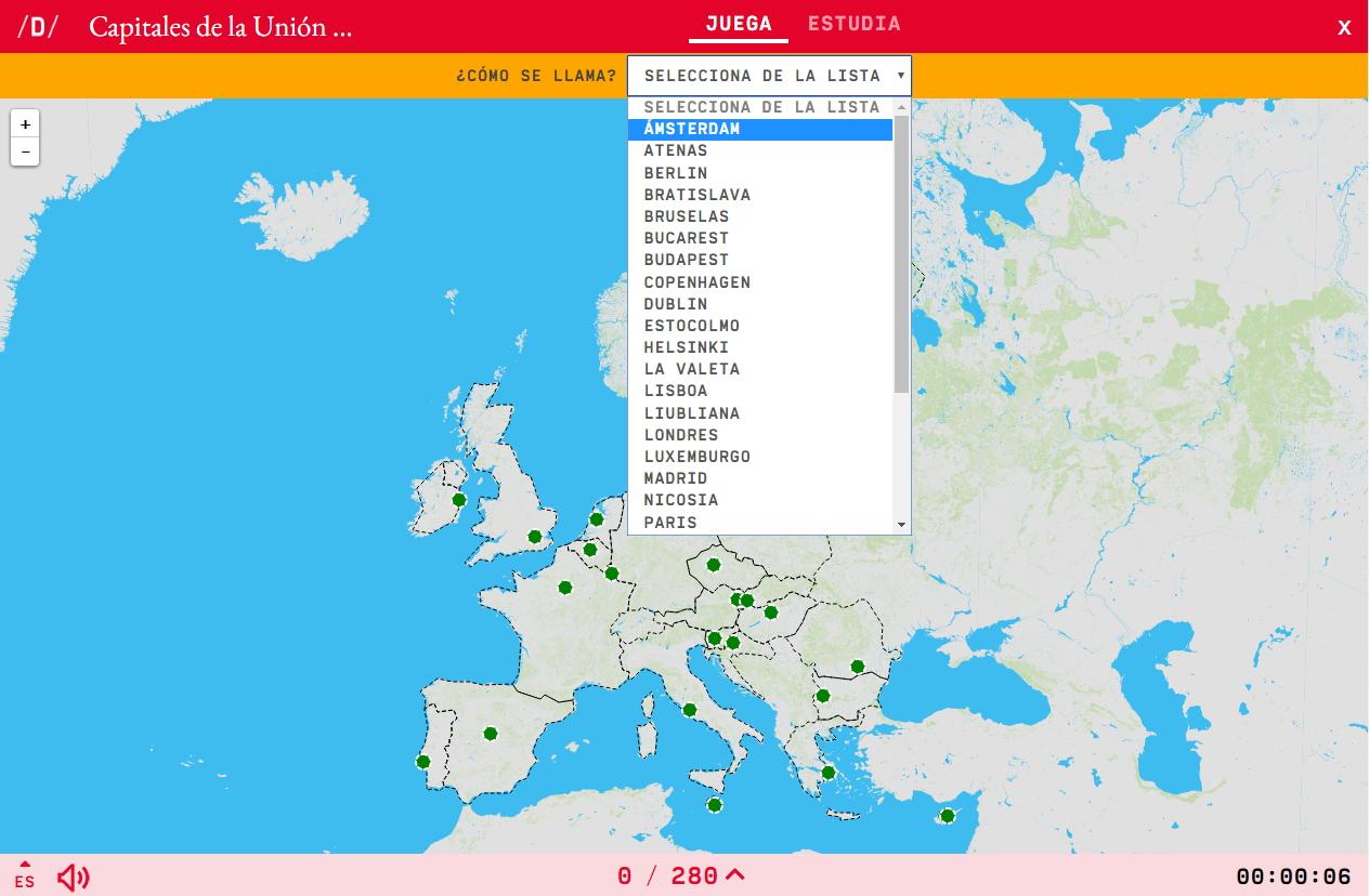 Carte Interactive. Comment S'appelle? Capitales De L'union à Carte De L Europe Et Capitale