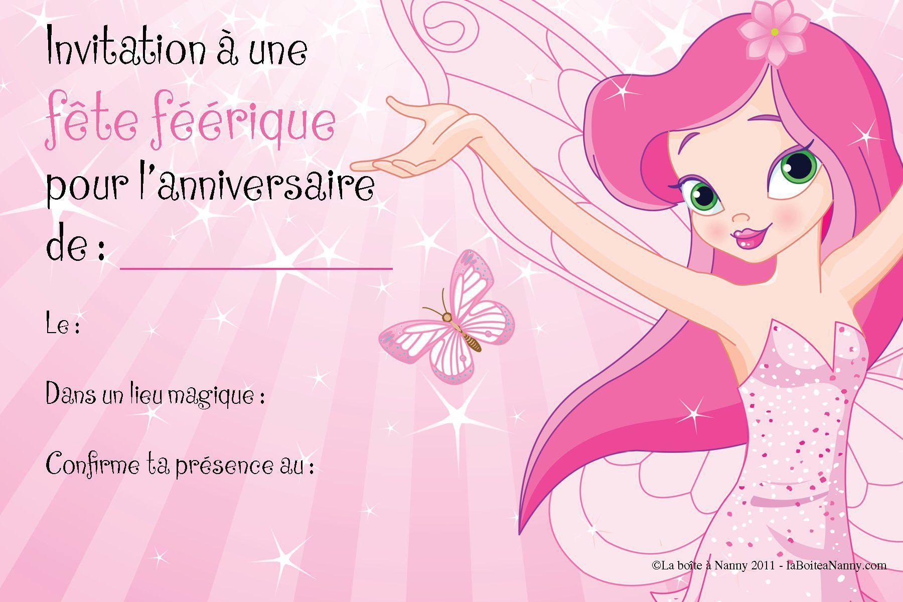 Carte Invitation Anniversaire Gratuite Fille 8 Ans   Carte à Jeu Pour Garcon De 6 Ans Gratuit ...