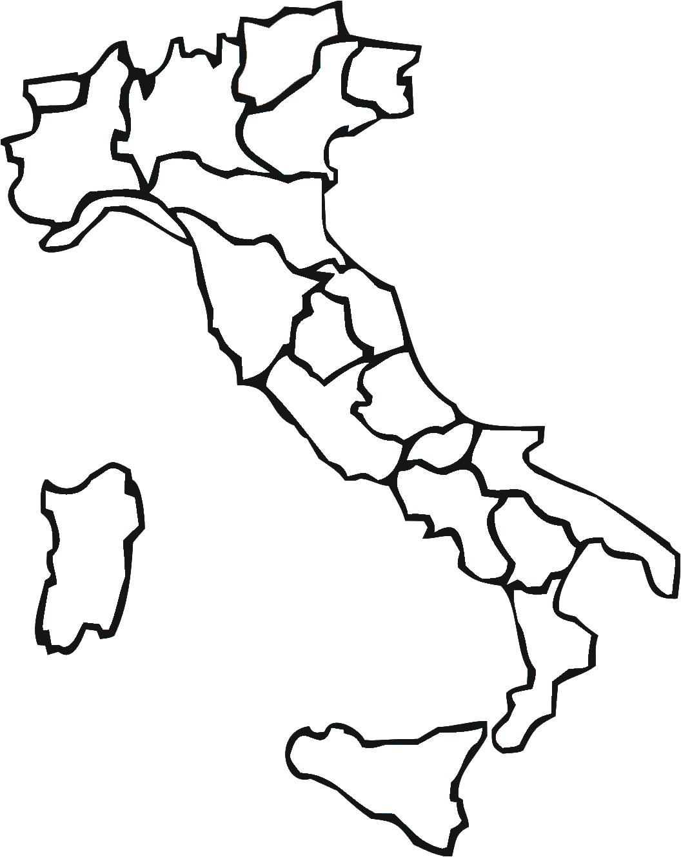 Carte Italie Vierge Régions, Carte Vierge Des Régions De L intérieur Carte Des Régions À Compléter