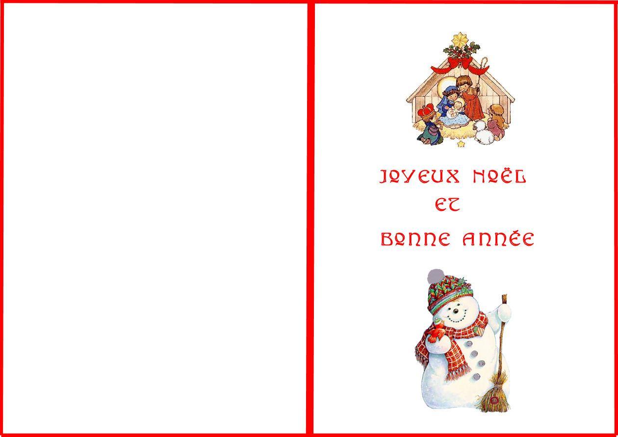 Carte Joyeux Noël Et Bonne Année destiné Carte Joyeux Noel À Imprimer