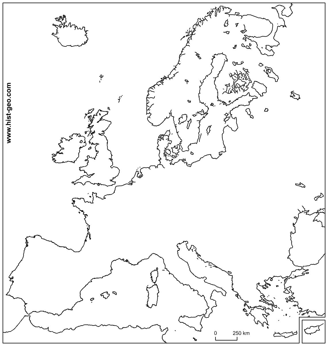 Carte Muette De L'union Européenne (Ue) avec Carte Vierge De L Union Européenne