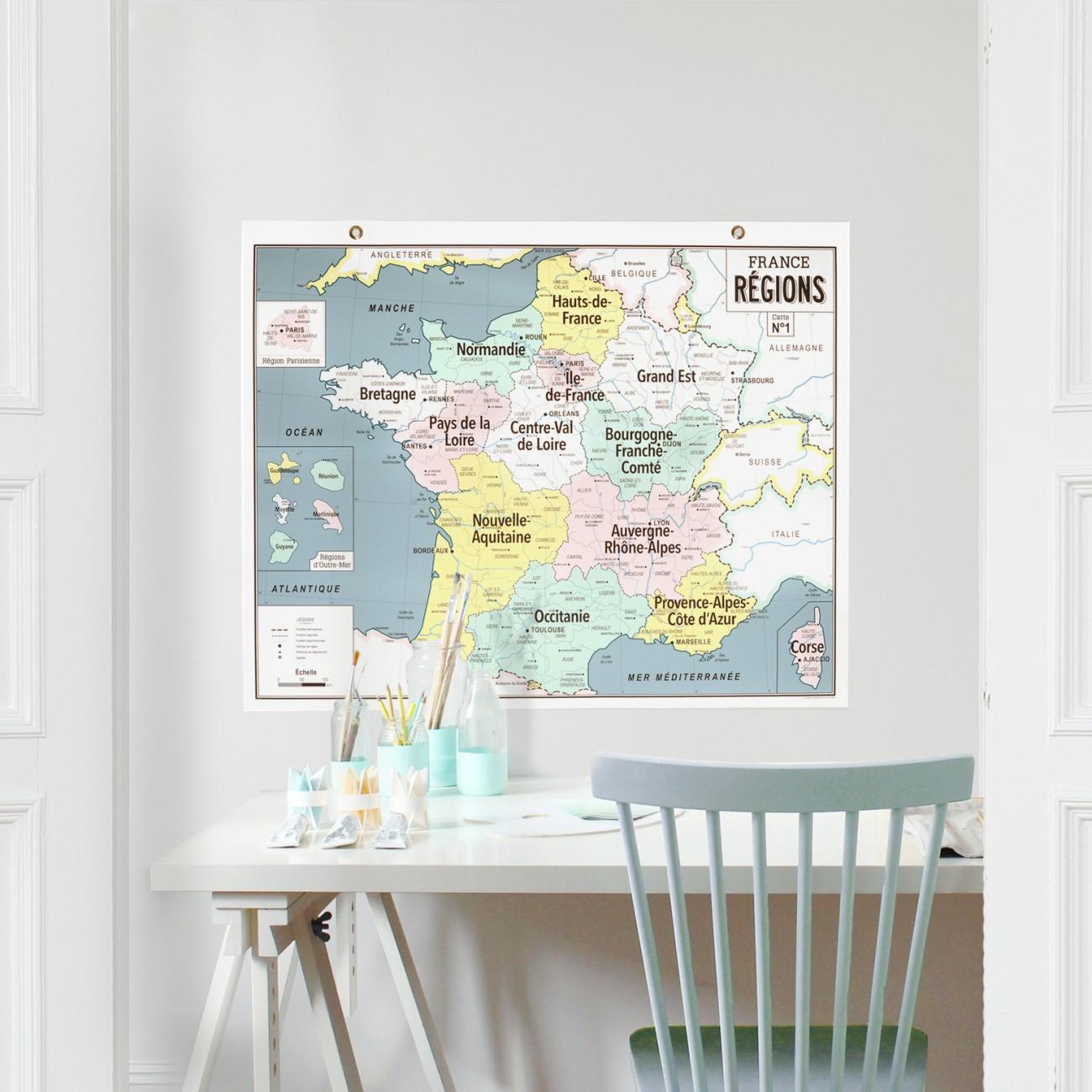 Carte N°1 - France Régions avec Carte Des 13 Nouvelles Régions De France