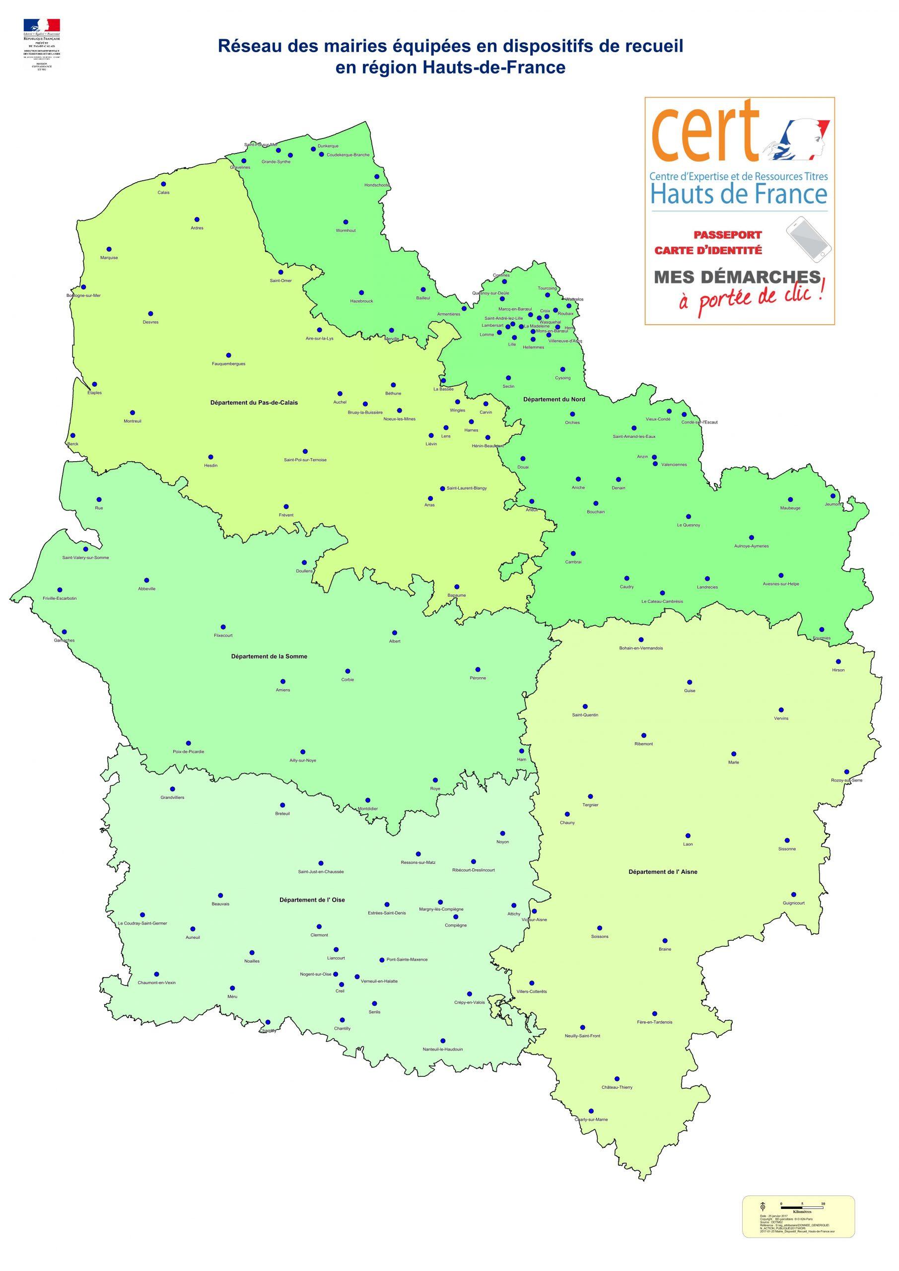 Carte Nationale D'identité - De Nouvelles Modalités De à Carte De France Avec Départements Et Préfectures