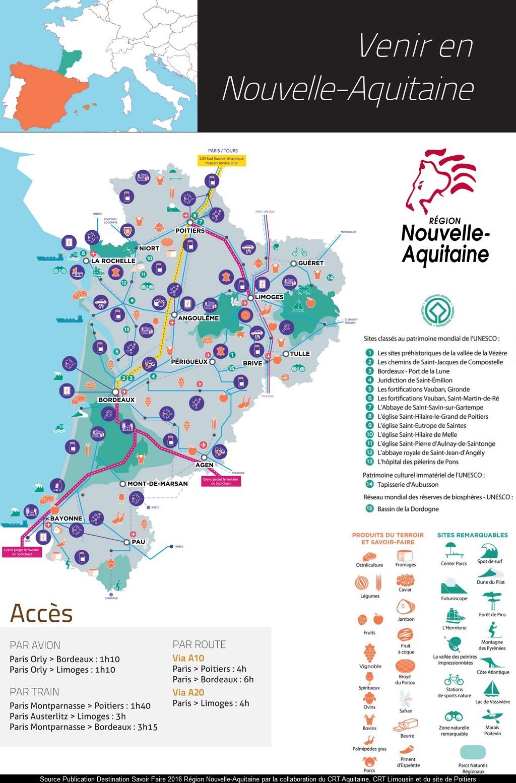 Carte Nouvelle-Aquitaine : Tourisme Et Découverte avec Carte De France Departement À Imprimer
