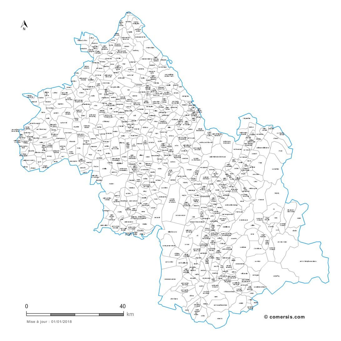 Carte Personnalisable Des Villes Et Communes De L'isère intérieur Petite Carte De France A Imprimer