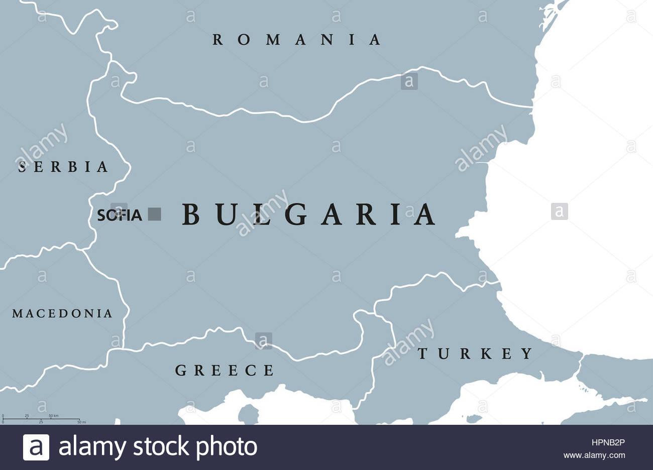 Carte Politique De La Bulgarie Avec Capitale Sofia, Les serapportantà Carte Europe Avec Capitale