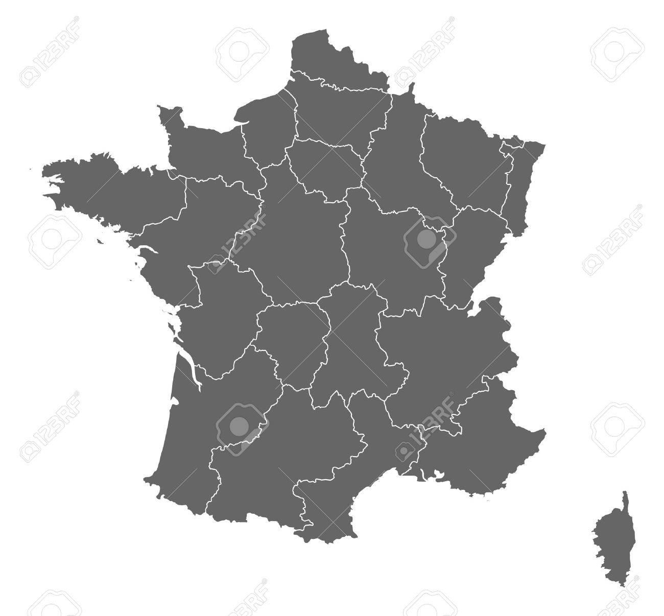 Carte Politique De La France Avec Les Diverses Régions. tout Carte De La France Avec Les Régions