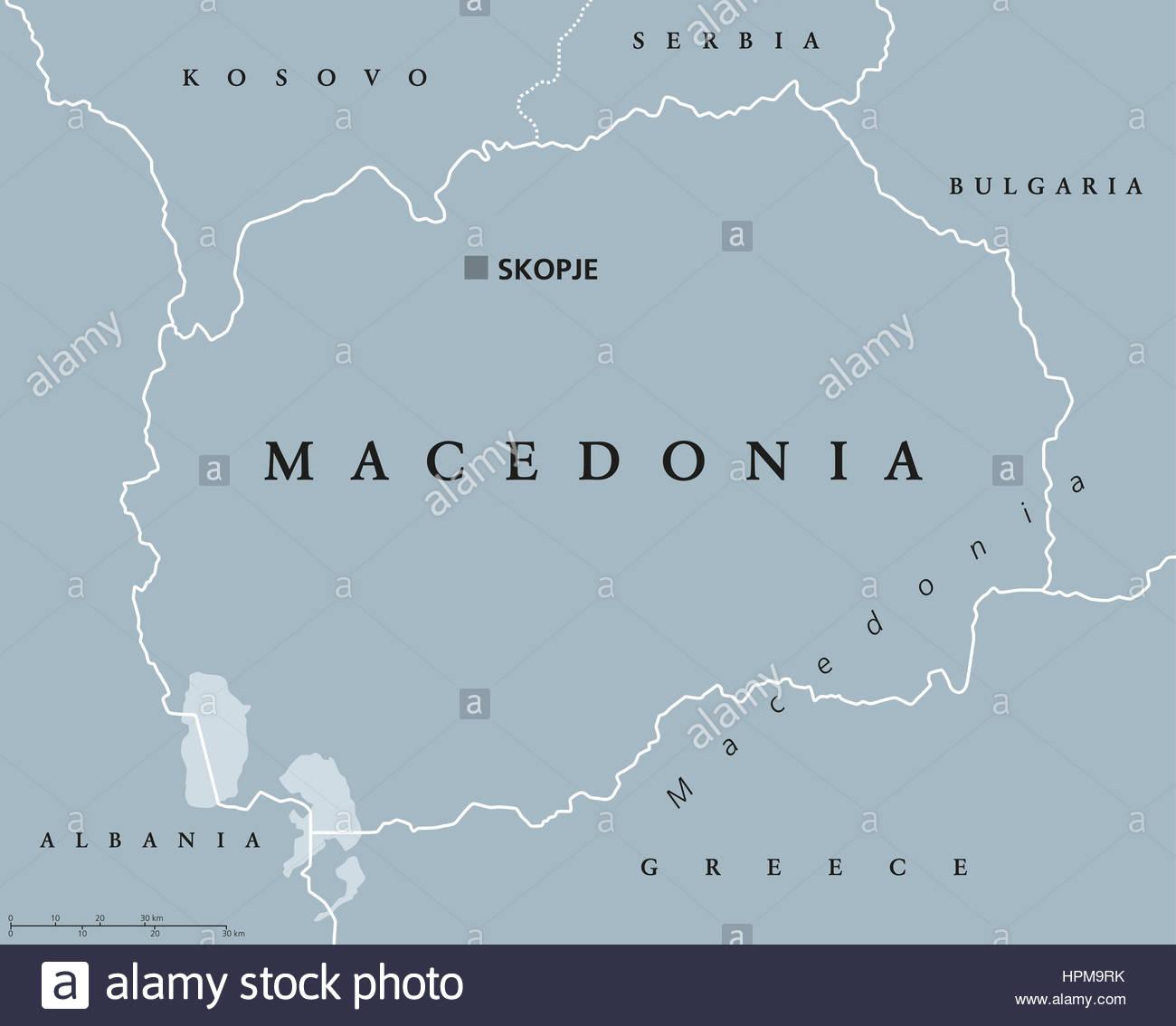 Carte Politique De La Macédoine Avec Capitale Skopje Et Les avec Carte Europe Capitale