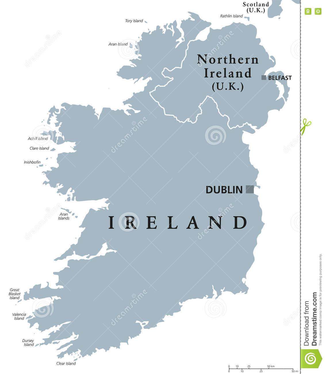 Carte Politique De La République D'irlande Et De L'irlande destiné Carte Europe Avec Capitales