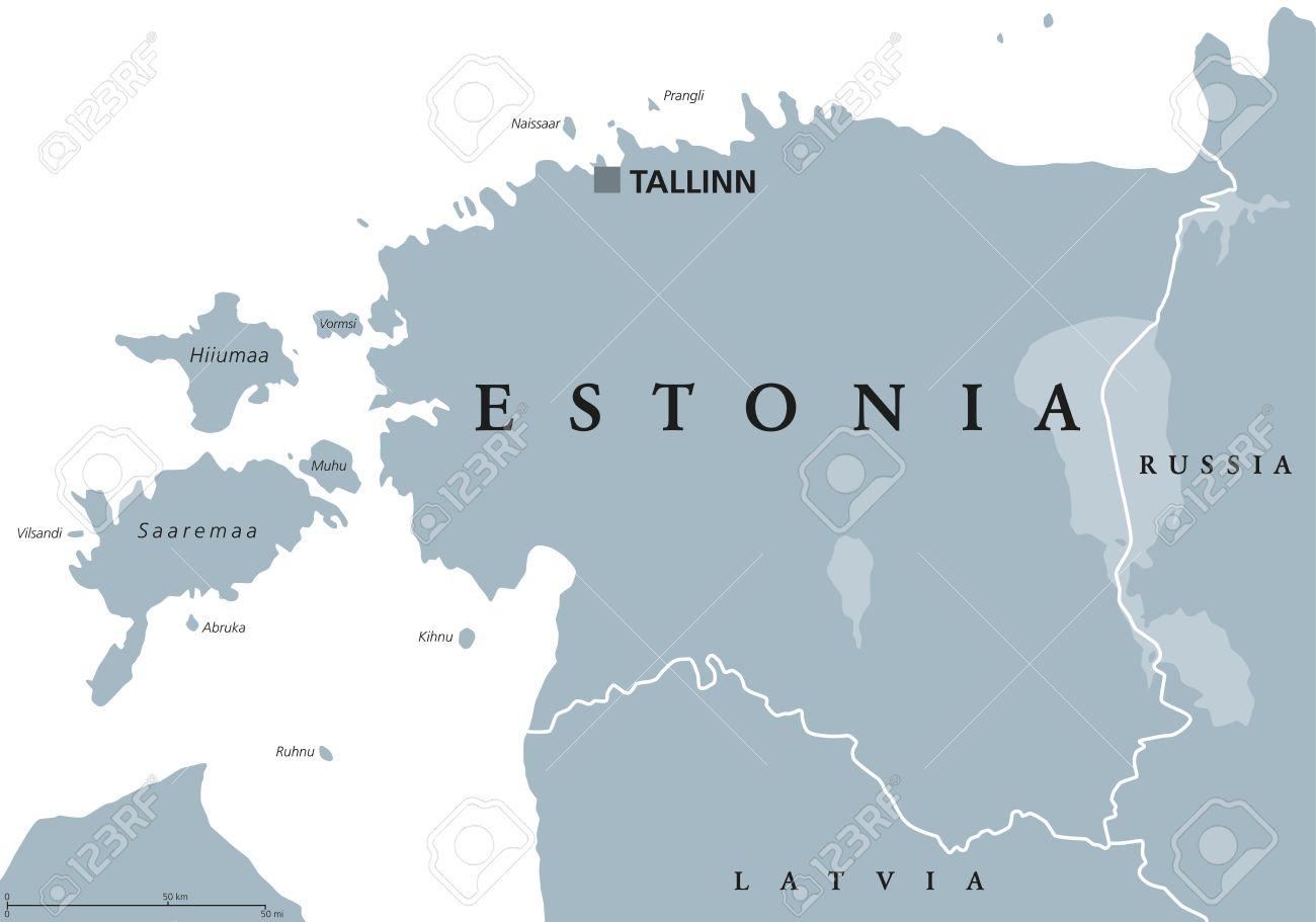 Carte Politique De L'estonie Avec La Capitale Tallinn, Les Frontières  Nationales Et Les Pays Voisins. République D'europe Du Nord, L'un Des Trois  Pays destiné Carte Europe Pays Et Capitale