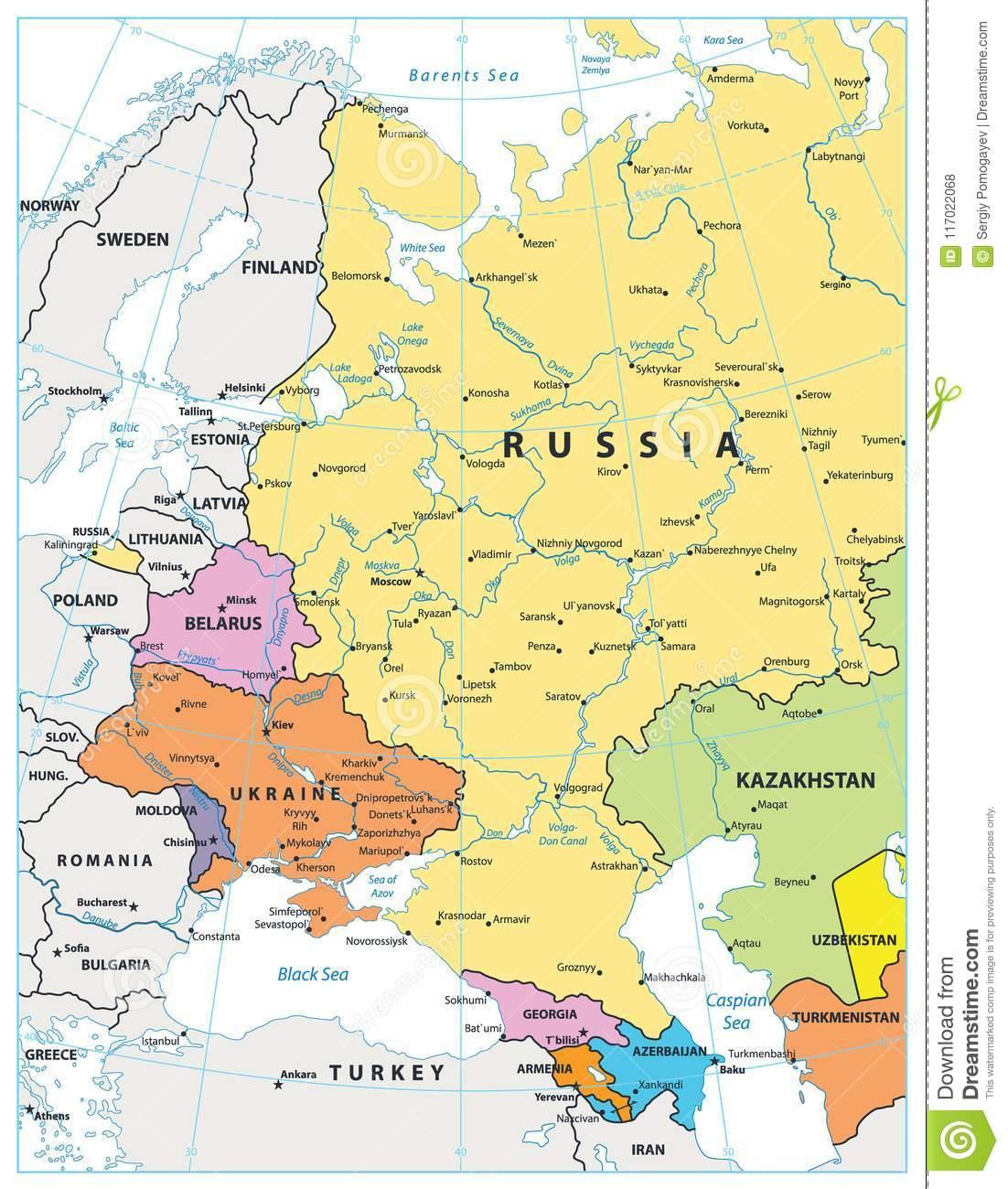 Carte Politique De L'europe De L'est D'isolement Sur Le serapportantà Carte Europe De L Est