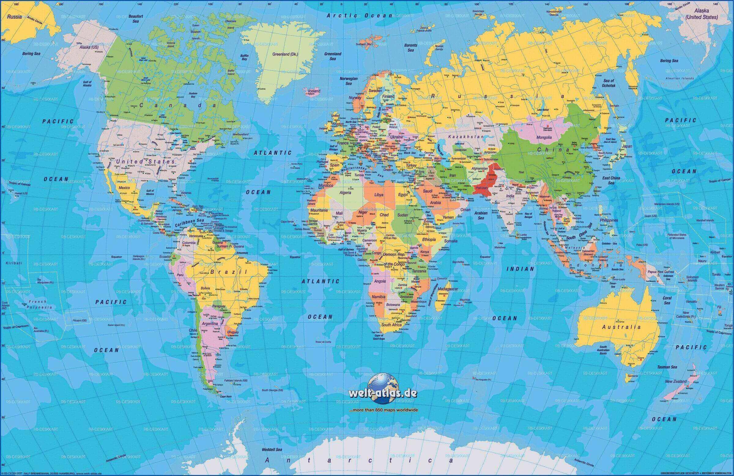 Carte Politique Du Monde à Carte De L Europe Détaillée
