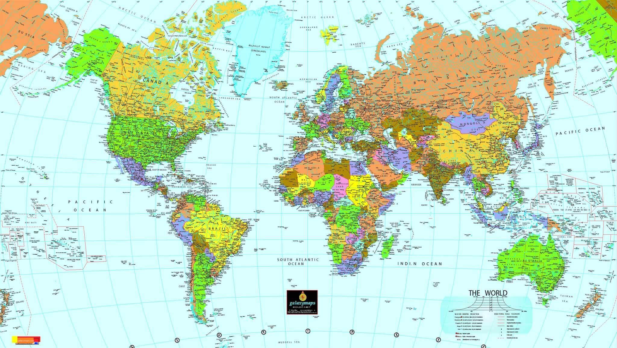 Carte Politique Du Monde avec Carte Du Monde Avec Capitale