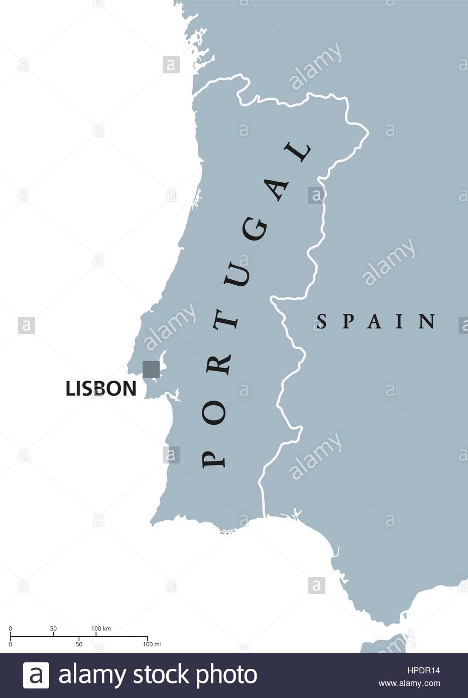 Carte Politique Du Portugal Capitale Lisbonne Et Avec Les serapportantà Carte Europe Avec Capitale