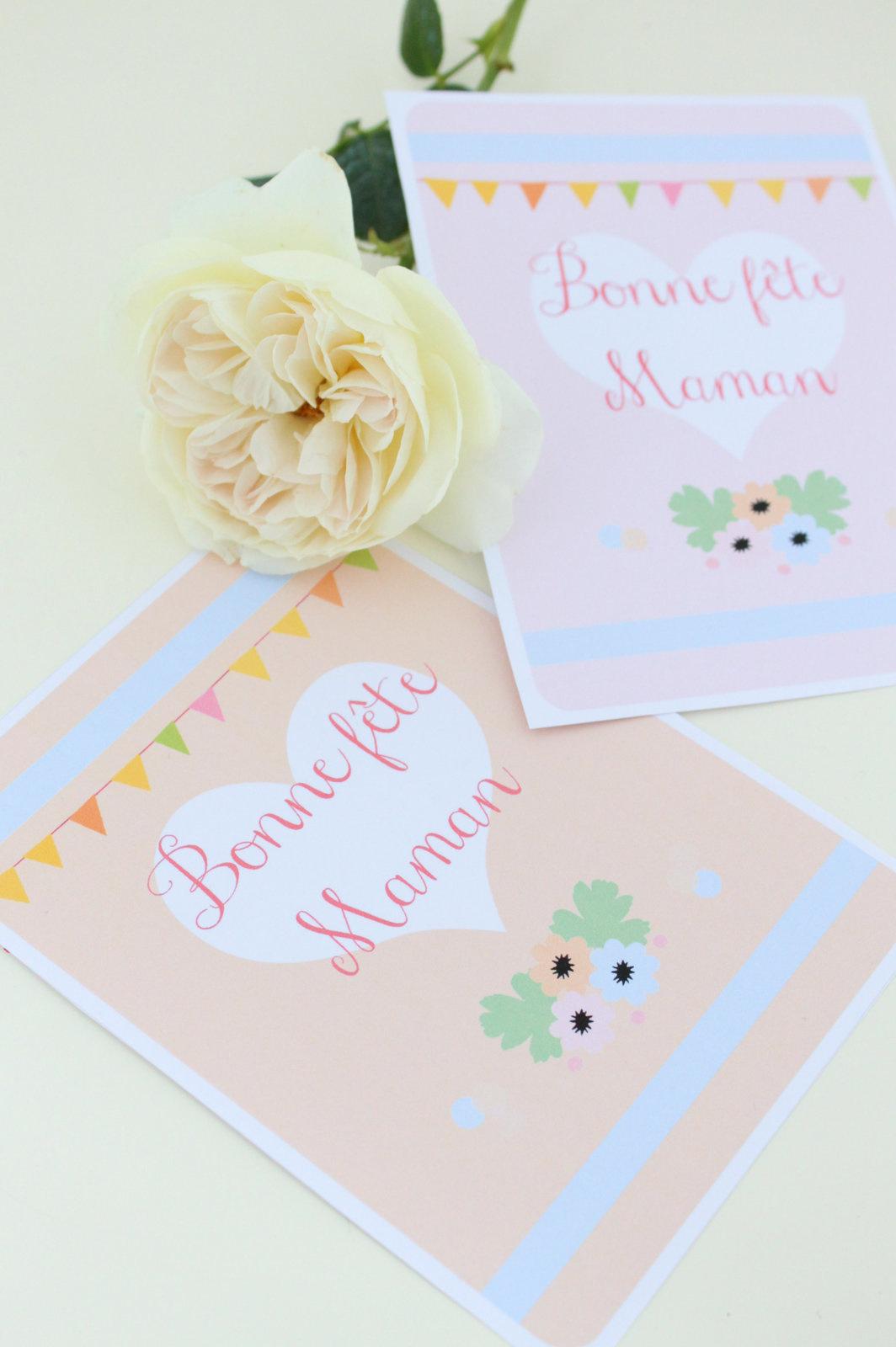 Carte Pour La Fête Des Mères À Imprimer - Avec Ses 10 Ptits intérieur Carte Bonne Fete Maman Imprimer