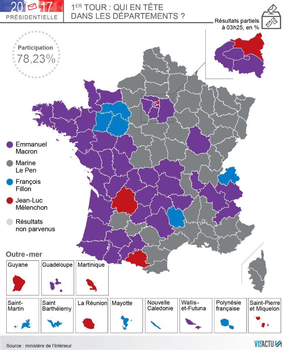 Carte. Présidentielle : Où Macron Et Le Pen Ont-Ils Réalisé avec Carte Des Départements De France 2017