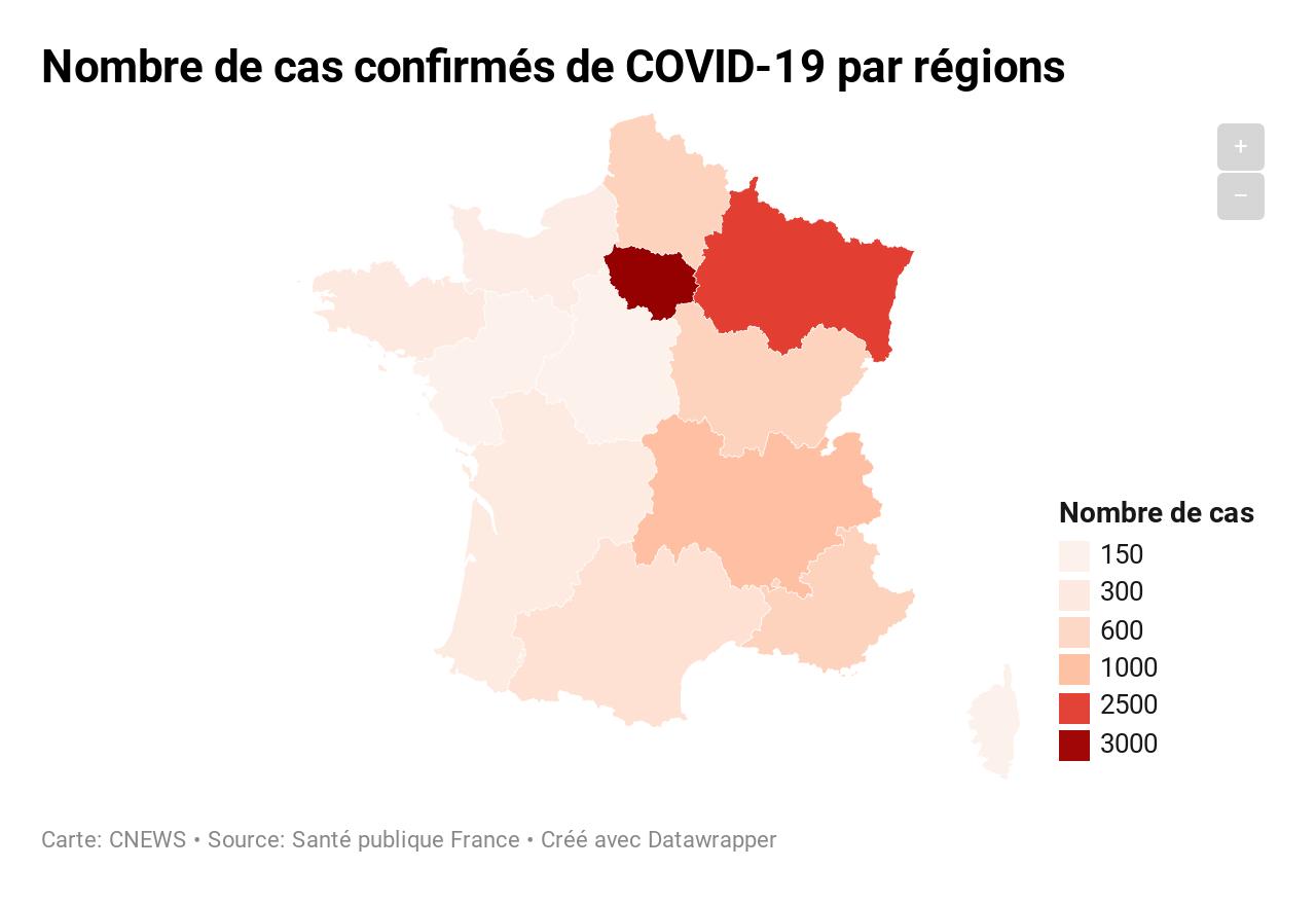 Carte : Quelles Sont Les Régions De France Les Plus Touchées tout Nombre De Region