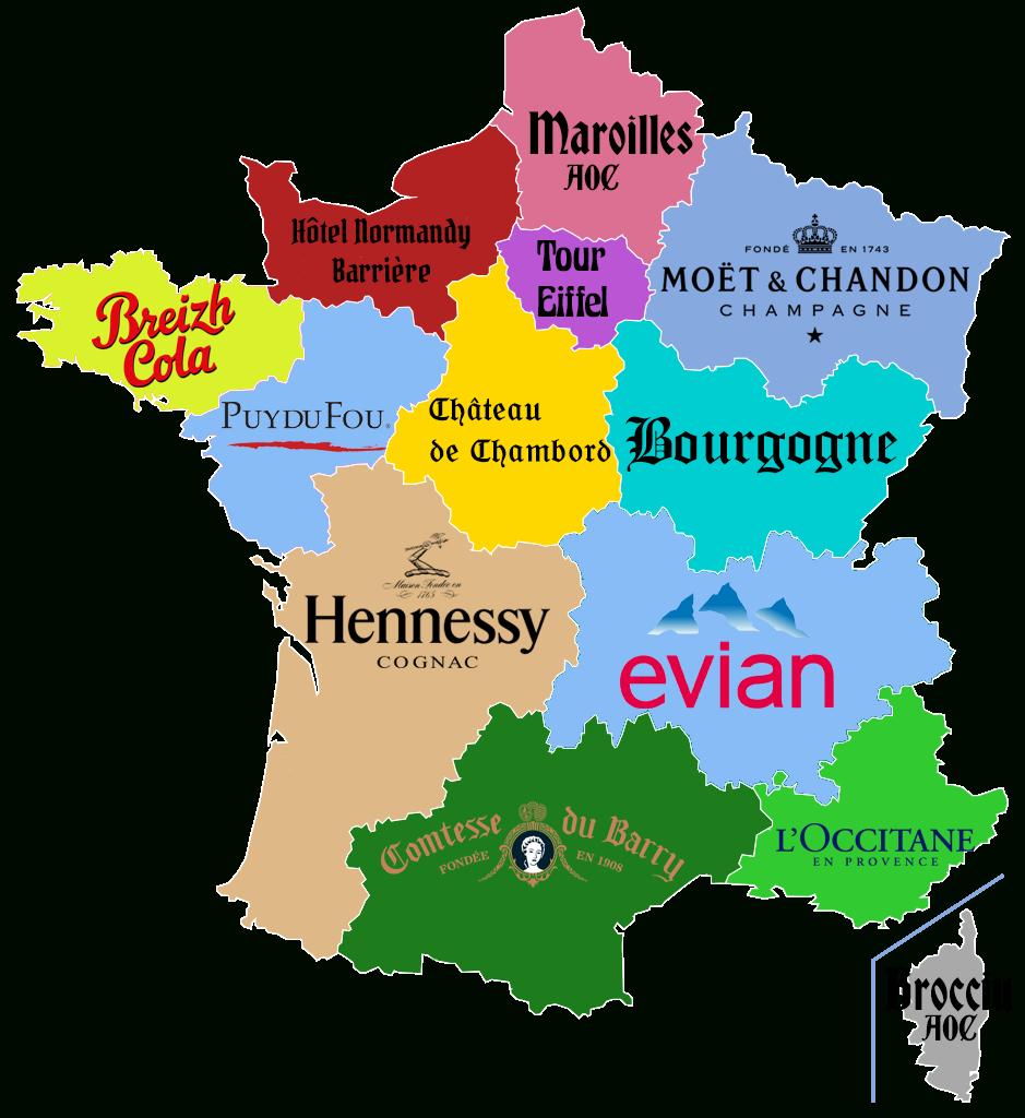 Carte. Quels Sponsors Pour Les Régions Françaises? | Carte à Carte Des Régions De La France