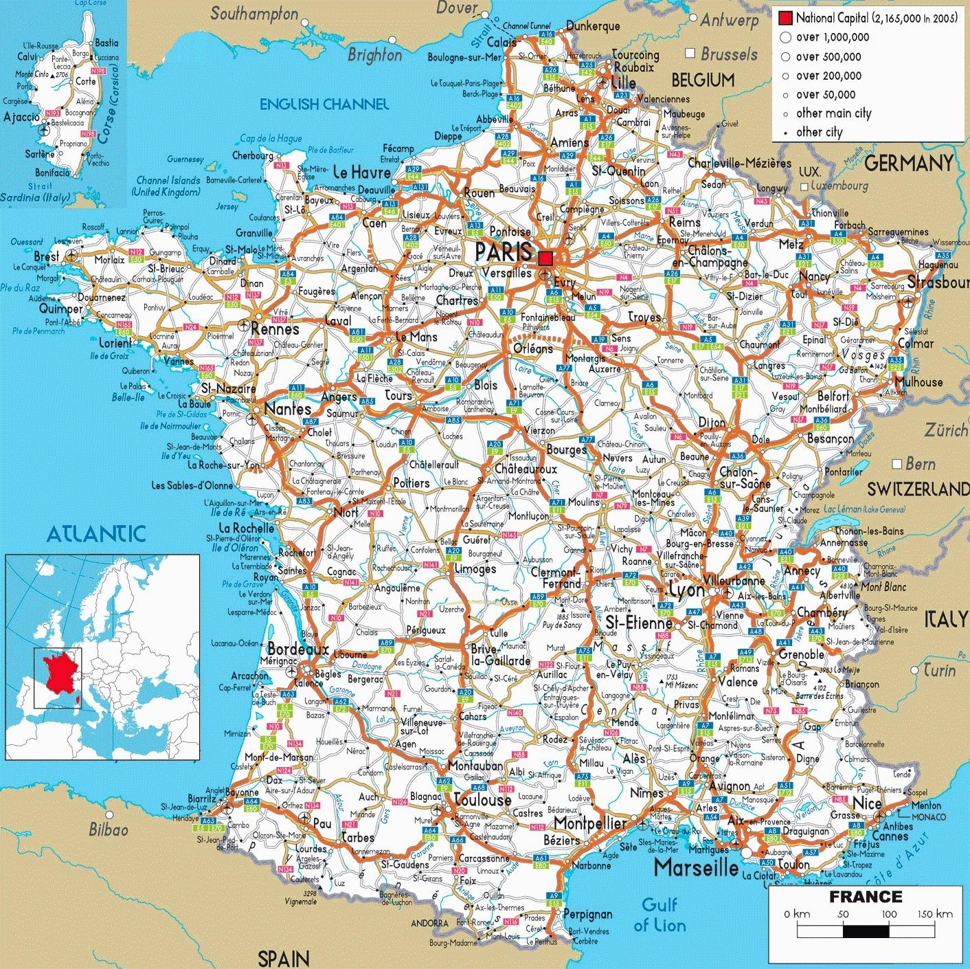 Carte Reseau Routier dedans Carte De France Avec Les Villes