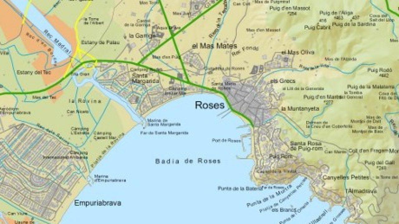 Carte Rosas Espagne Au Nord De La Costa Brava à Carte De France Grande Ville