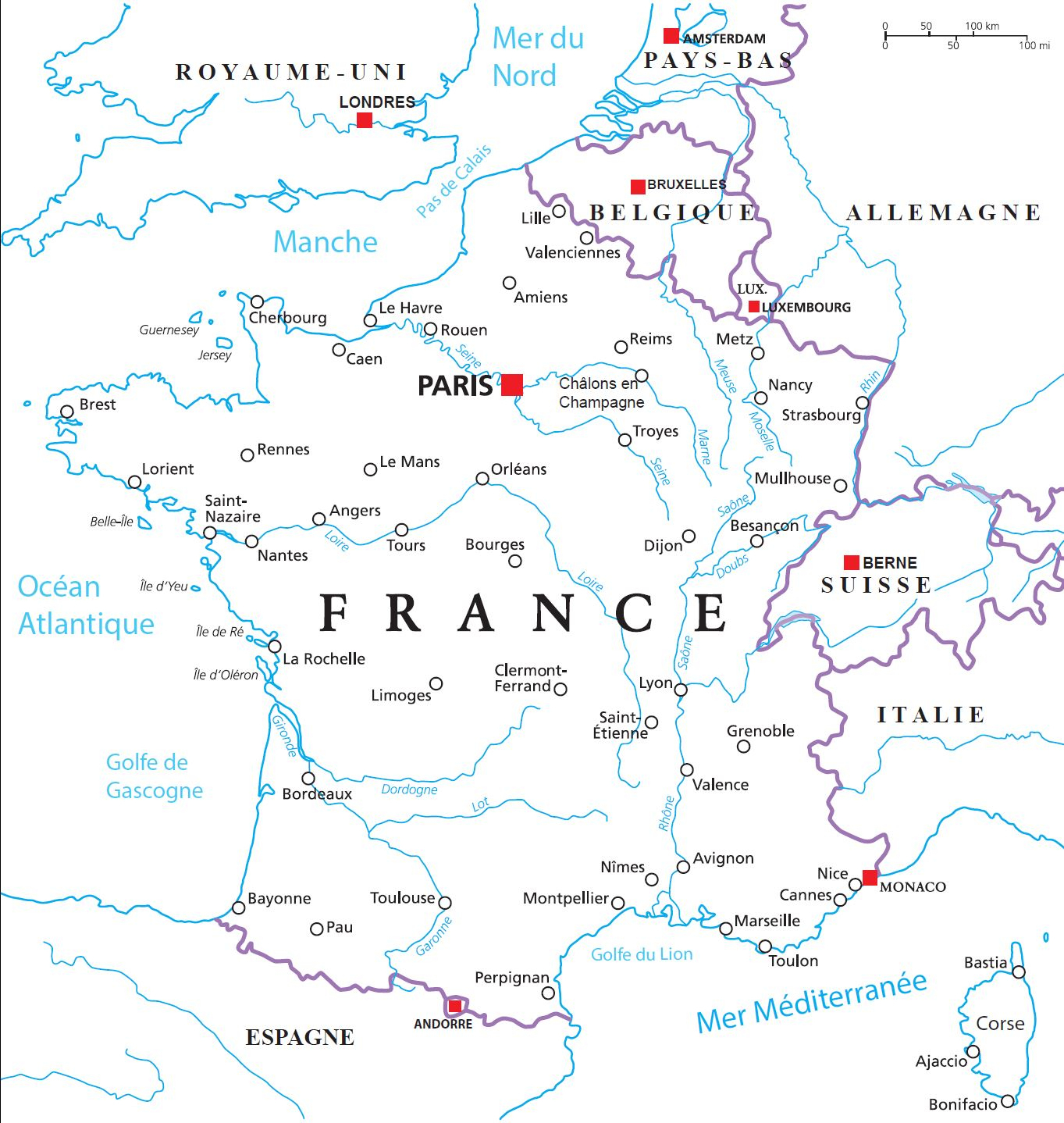 Carte Routes Fluviales destiné Carte Fleuve France