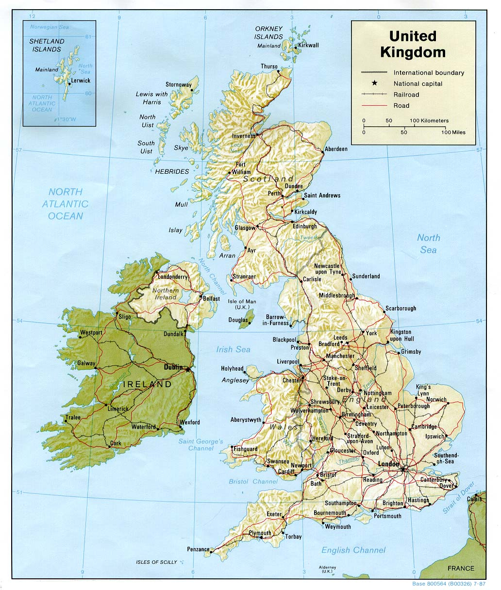 Carte Royaume-Uni, Carte De Royaume-Uni pour Carte De L Europe À Imprimer