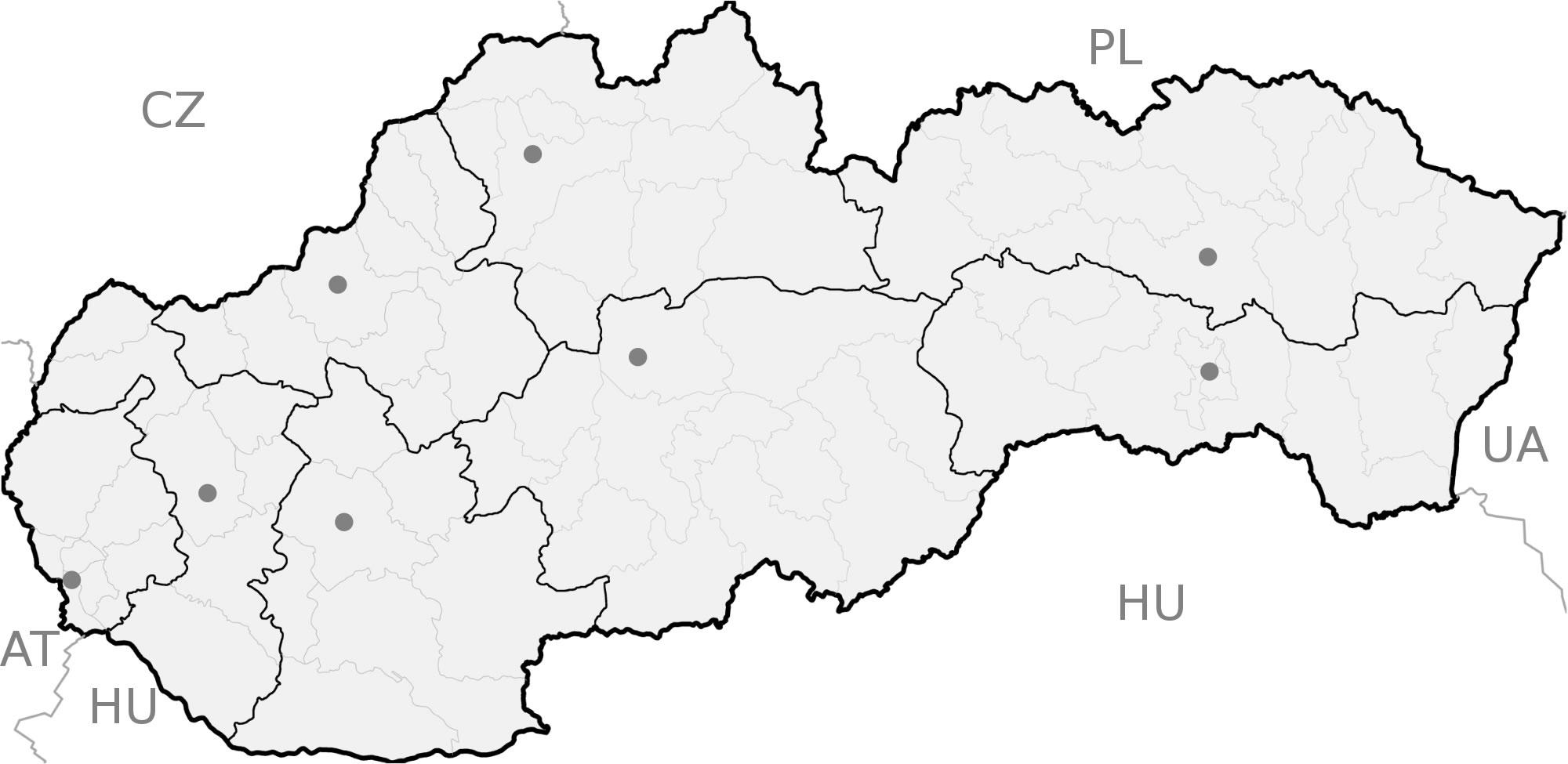 Carte Slovaquie Vierge Régions, Carte Vierge Des Régions De serapportantà Carte Vierge Des Régions De France