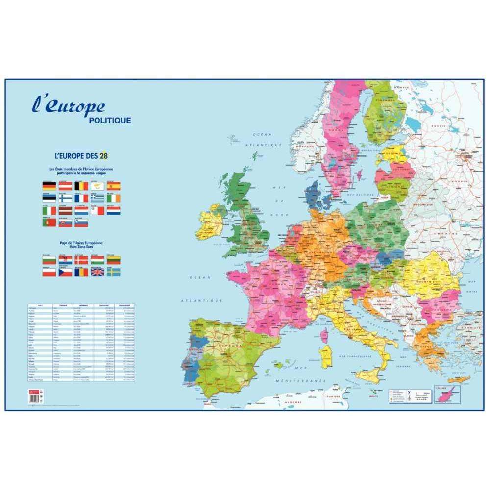 Carte Souple : L'europe & Le Monde Politique avec Carte Géographique De L Europe