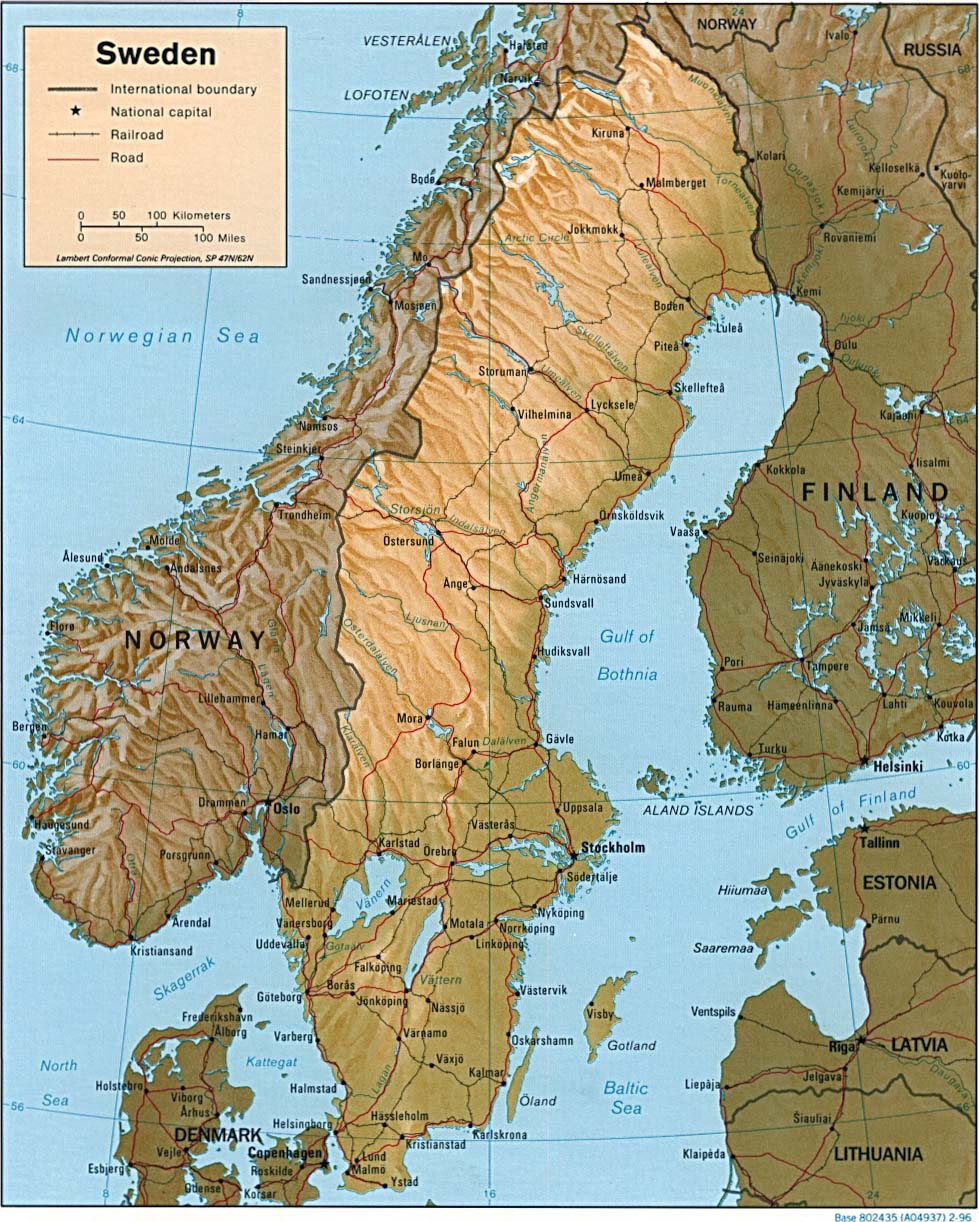Carte Suède, Carte De Suède intérieur Carte Géographique De L Europe