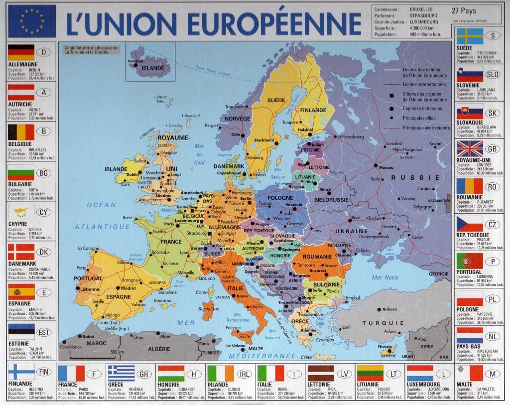 Carte Touristique Europe encequiconcerne Carte De L Europe Et Capitale