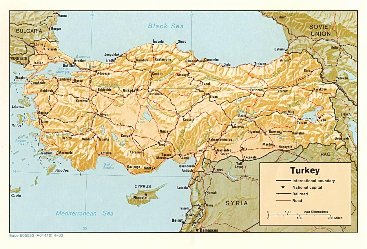 Carte Turquie, Carte De Turquie concernant Carte Géographique Europe