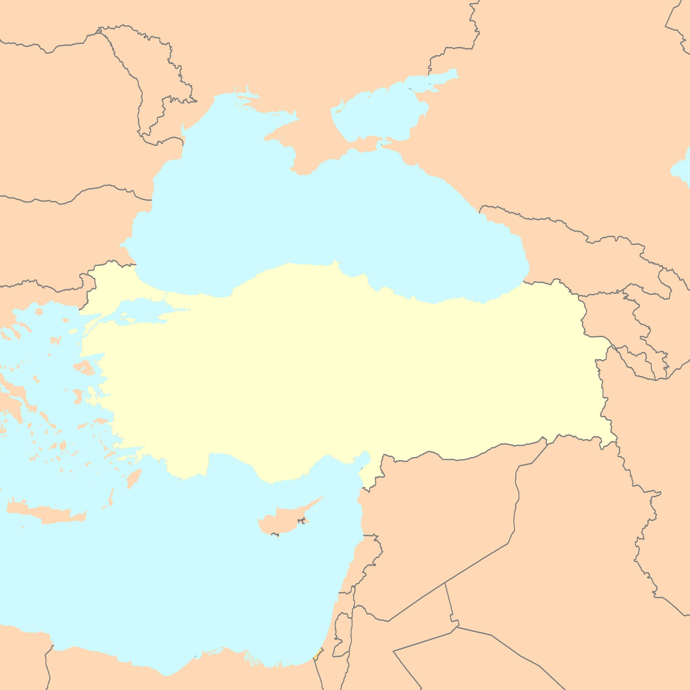 Carte Turquie Vierge Régions, Carte Vierge Des Régions De destiné Carte Vierge Des Régions De France