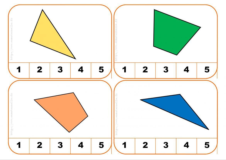 Cartes À Pinces : Compter Les Côtés D'une Forme Géométrique avec Jeu De Forme Géométrique