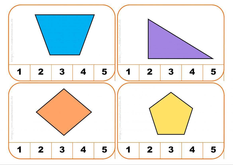 Cartes À Pinces : Compter Les Côtés D'une Forme Géométrique concernant Jeu De Forme Géométrique