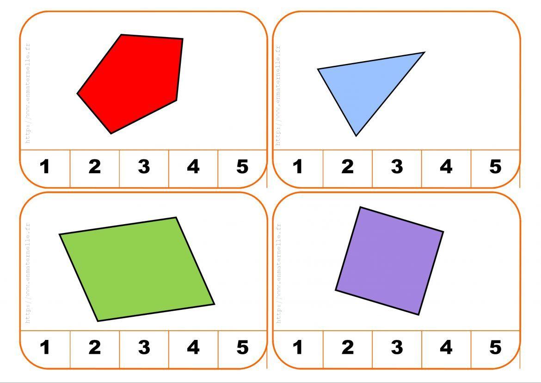 Cartes À Pinces : Compter Les Côtés D'une Forme Géométrique dedans Jeu De Forme Géométrique