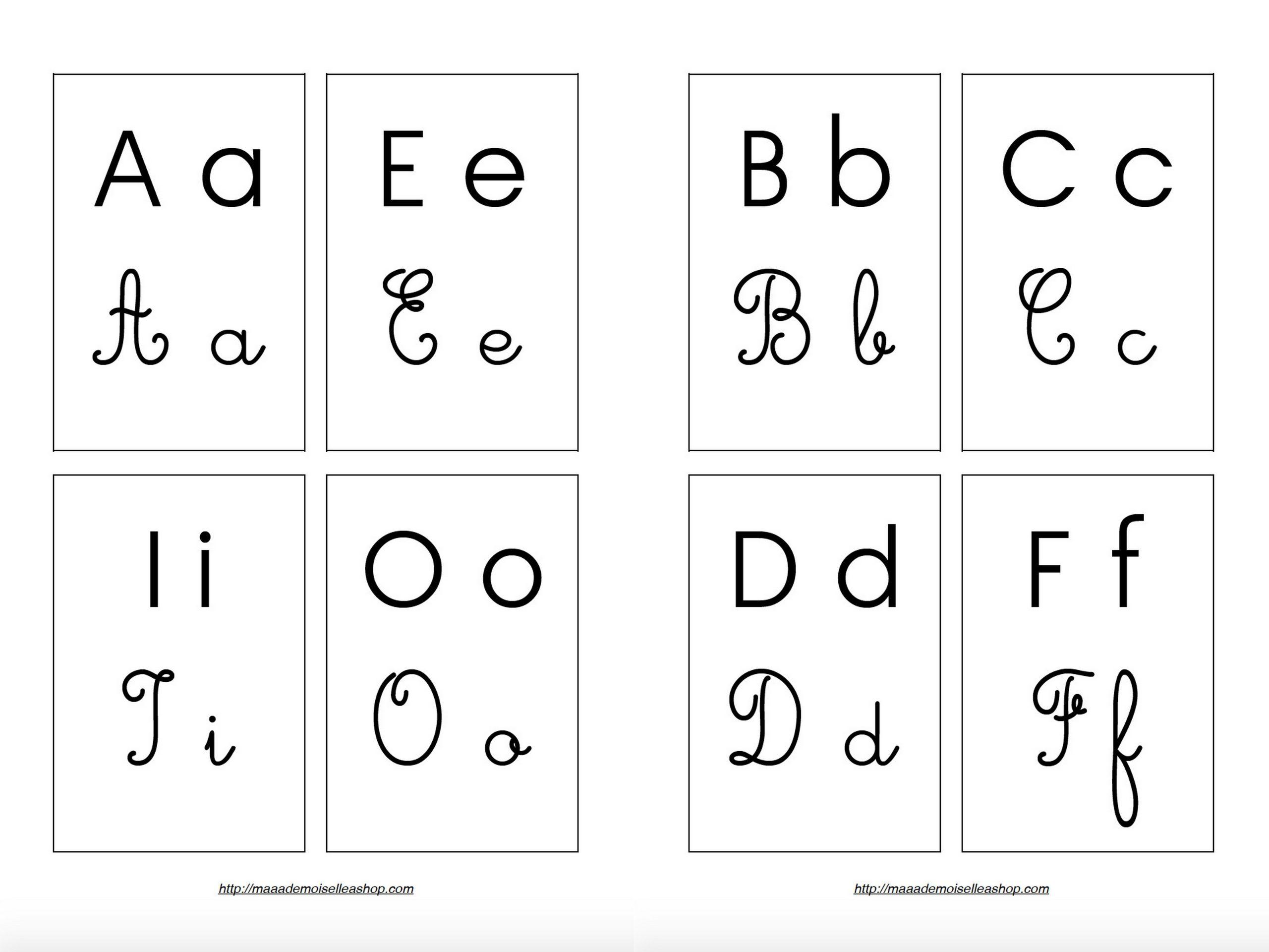 Cartes Alphabet (26 Cartes + Pochette De Rangement) intérieur Lettre De L Alphabet A Imprimer Et Decouper