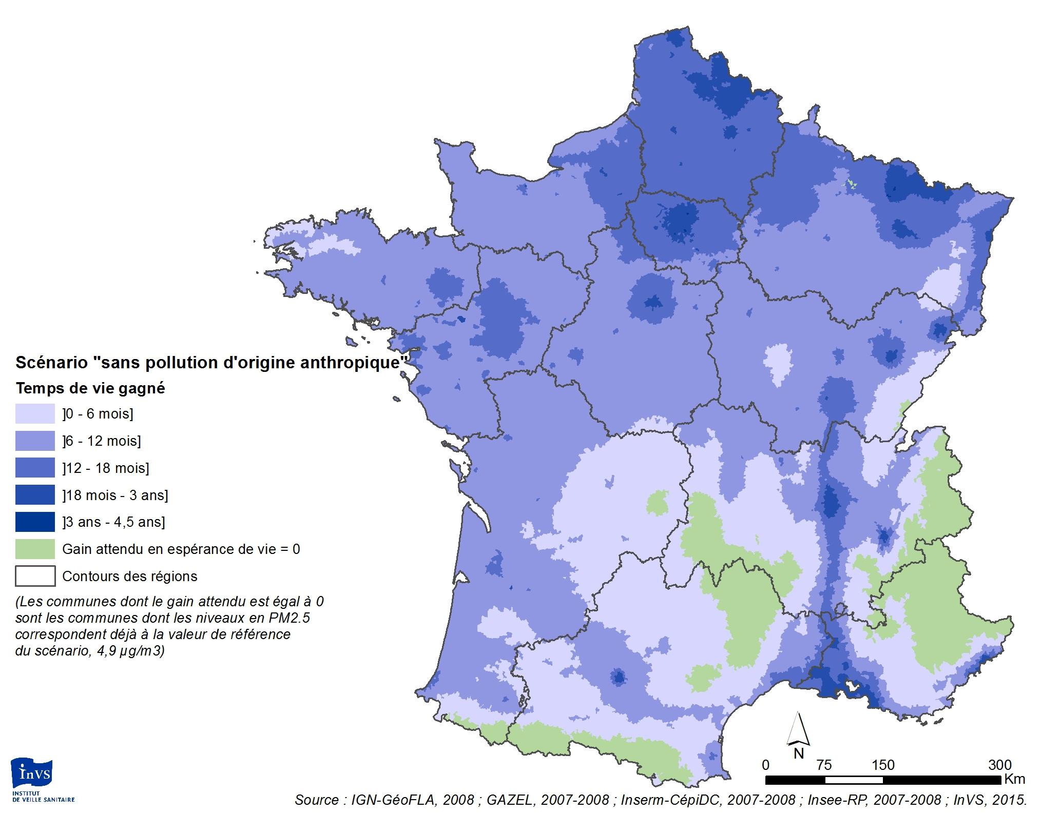 Cartes. Combien D'années D'espérance De Vie Gagneriez-Vous dedans Carte Région France 2017