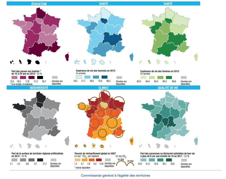 Cartes Comparatives Des Nouvelles Régions En France intérieur Les Nouvelles Régions De France Et Leurs Départements