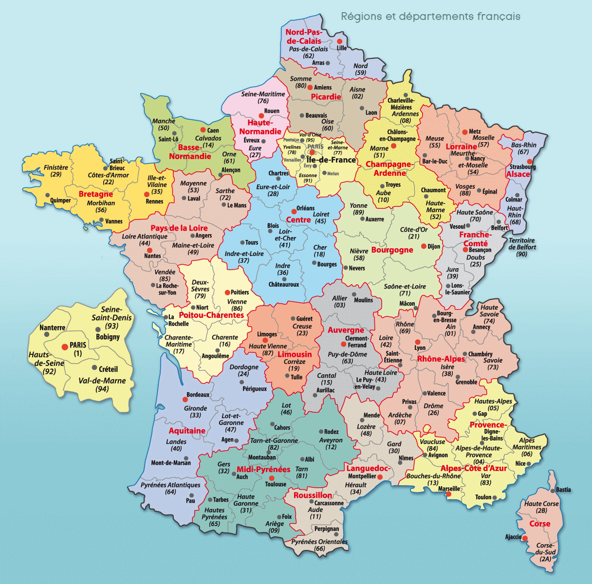 Cartes De France : Cartes Des Régions, Départements Et concernant Departement Francais Carte