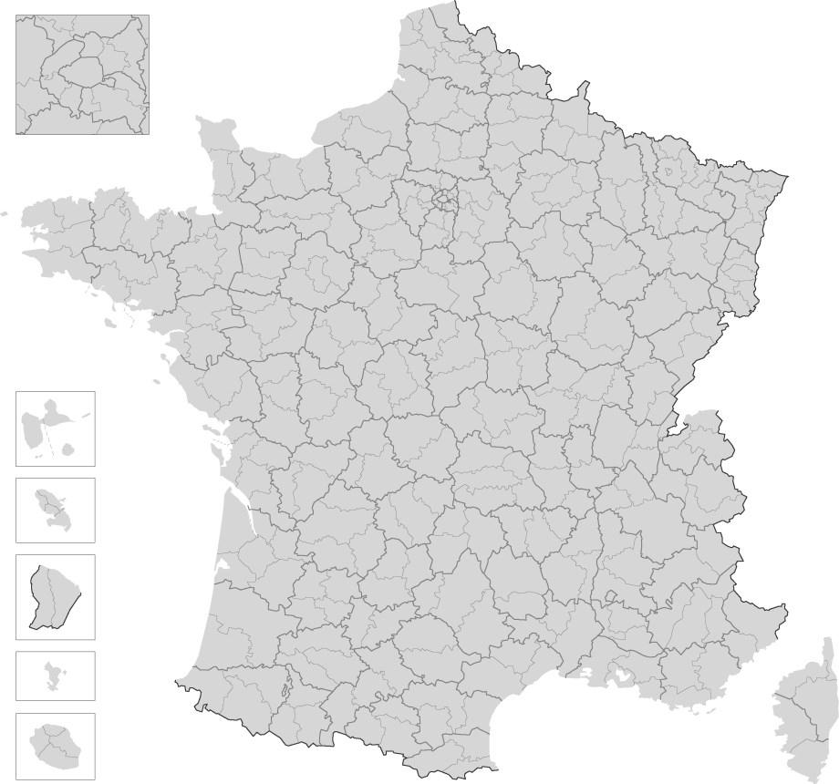 Cartes De France, Cartes Et Rmations Des Régions dedans Carte Vierge De France