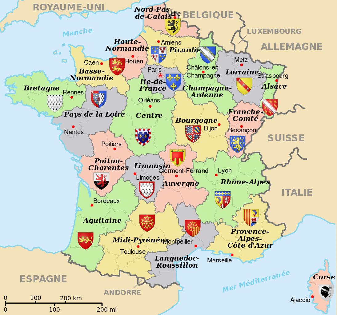 Cartes De France - France Maps < France Map serapportantà Carte De Region De France
