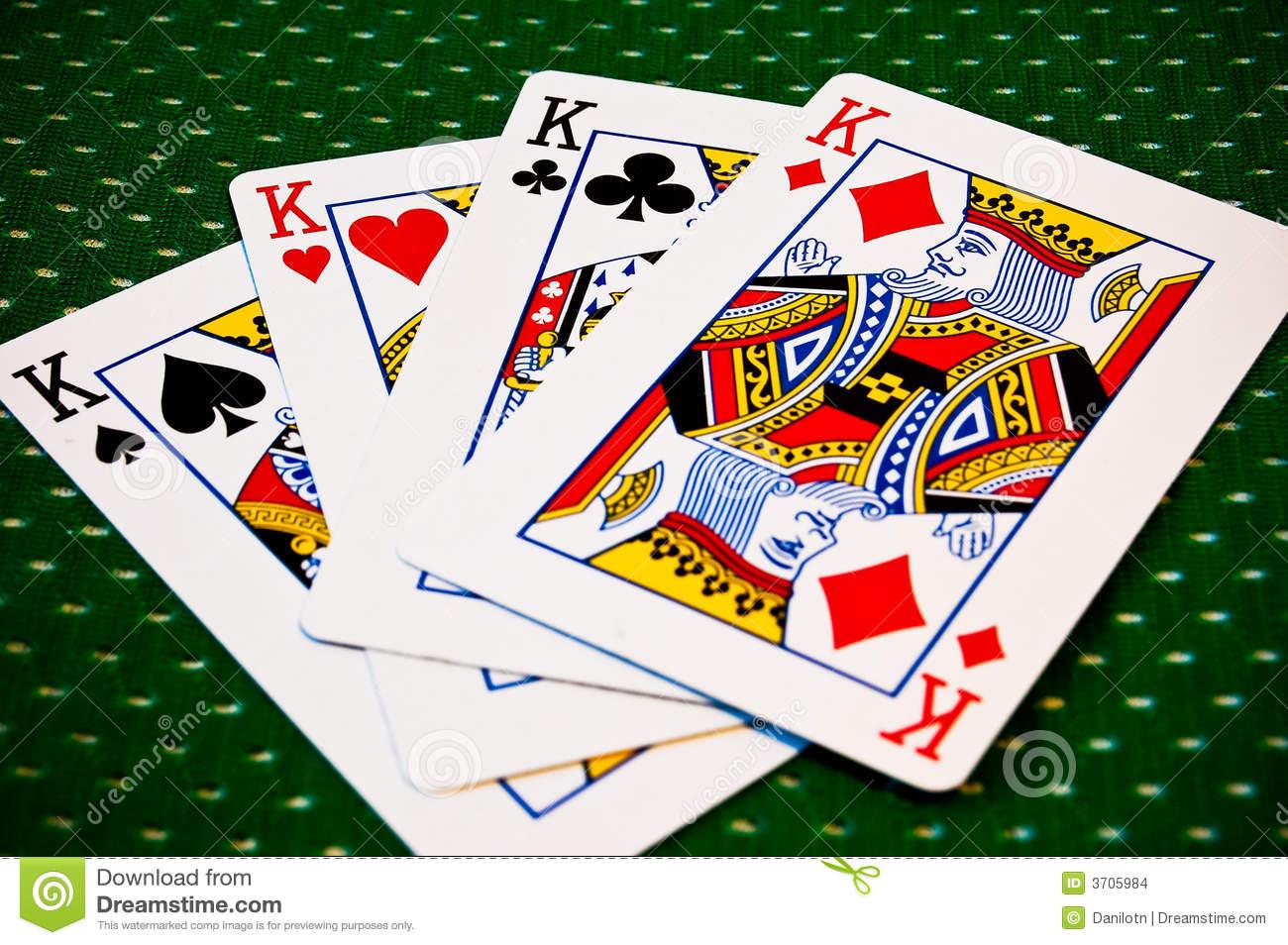 Cartes De Jeu - Quatre Rois Photo Stock - Image Du Clubs dedans Jeu Quatre Images