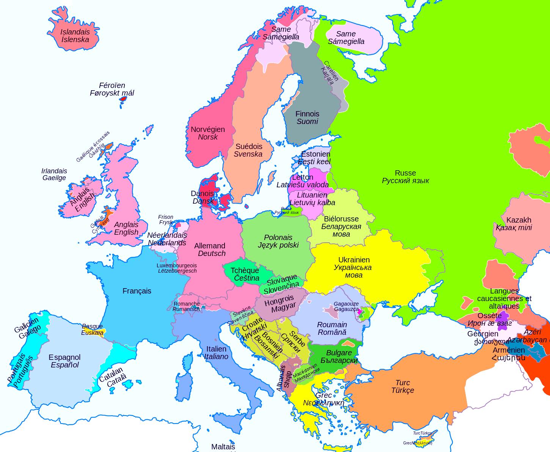 Cartes De L'europe Et Rmations Sur Le Continent Européen avec Carte Géographique Europe