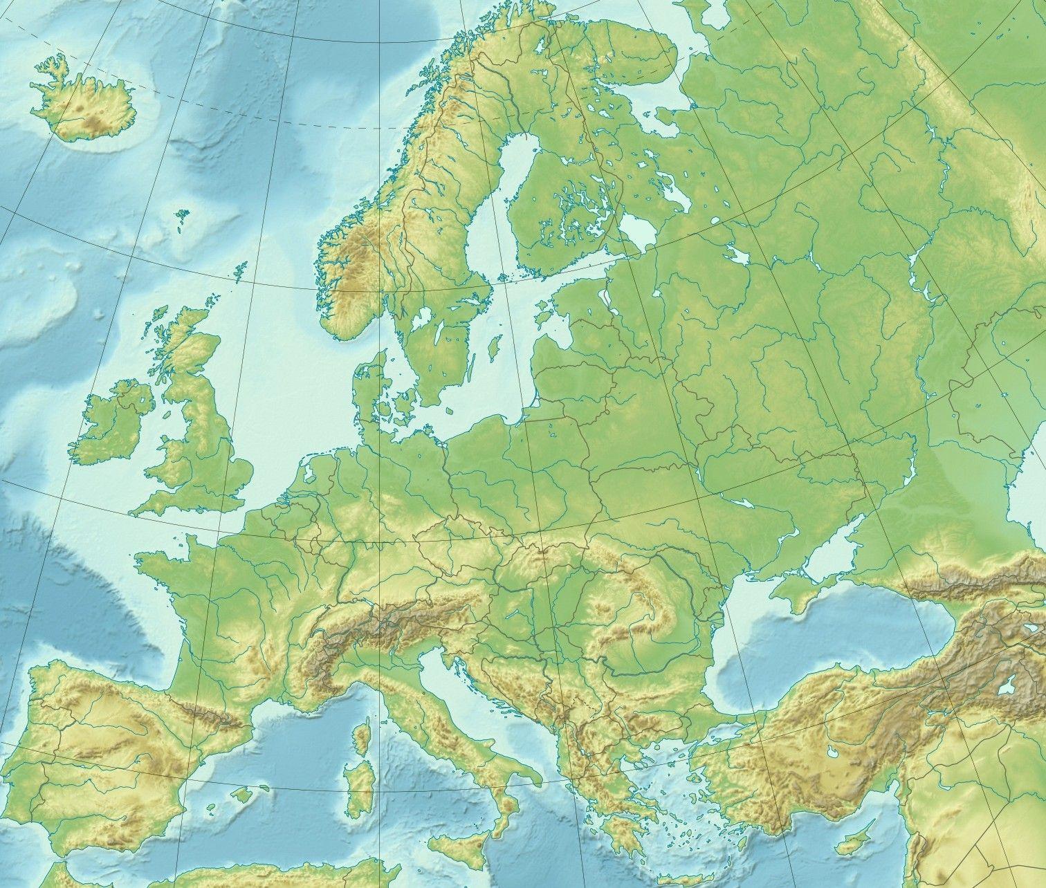Cartes De L'europe Et Rmations Sur Le Continent Européen tout Carte Géographique De L Europe