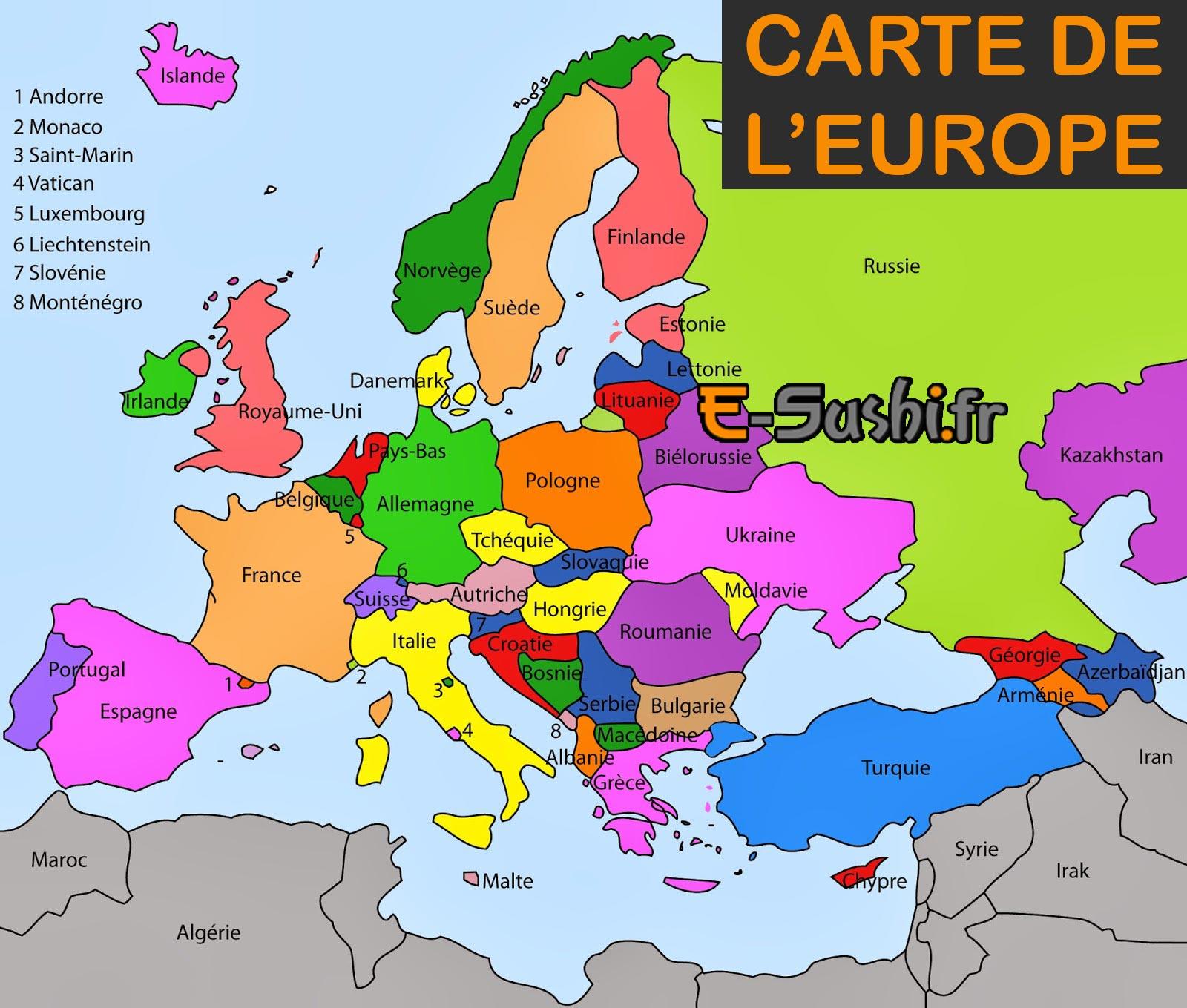 Cartes De Leurope - Romes.danapardaz.co destiné Carte D Europe Avec Pays