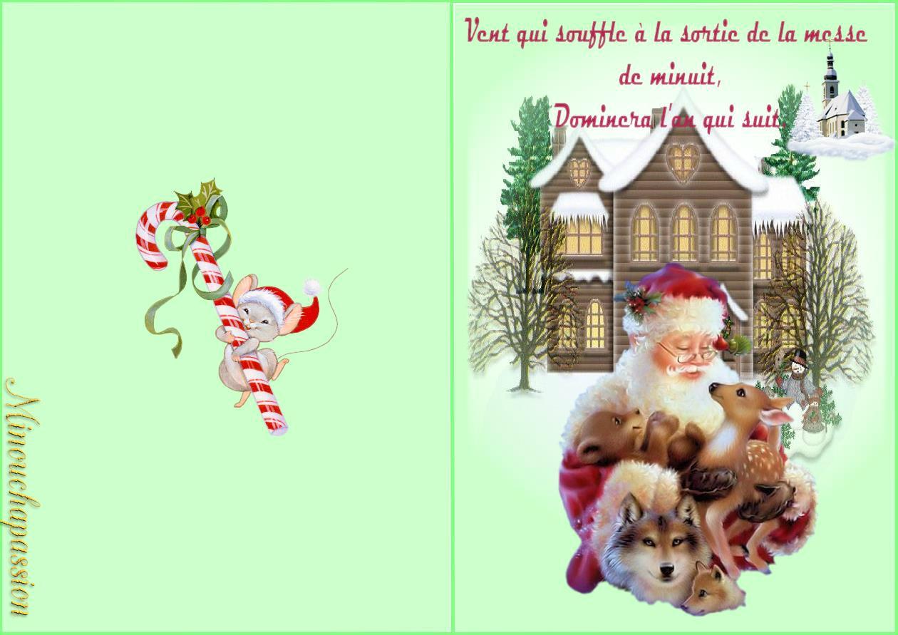Cartes De Noël À Imprimer - Bienvenue Chez Minouchapassion dedans Carte Joyeux Noel À Imprimer