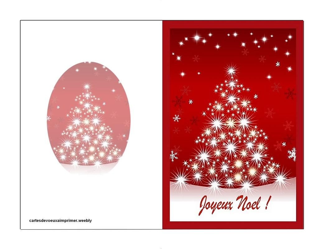 Cartes De Noël À Imprimer Gratuitement - Cartes De Voeux A pour Carte Joyeux Noel À Imprimer