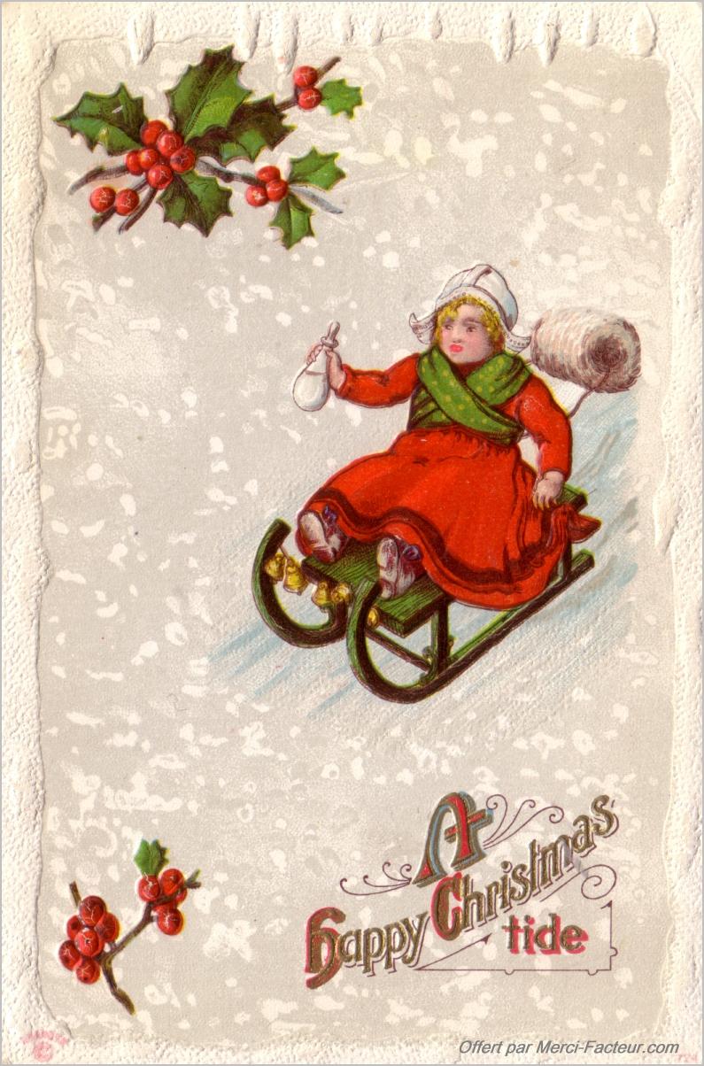 Cartes De Noël Anciennes À Imprimer Gratuitement - Merci Facteur encequiconcerne Carte Joyeux Noel À Imprimer