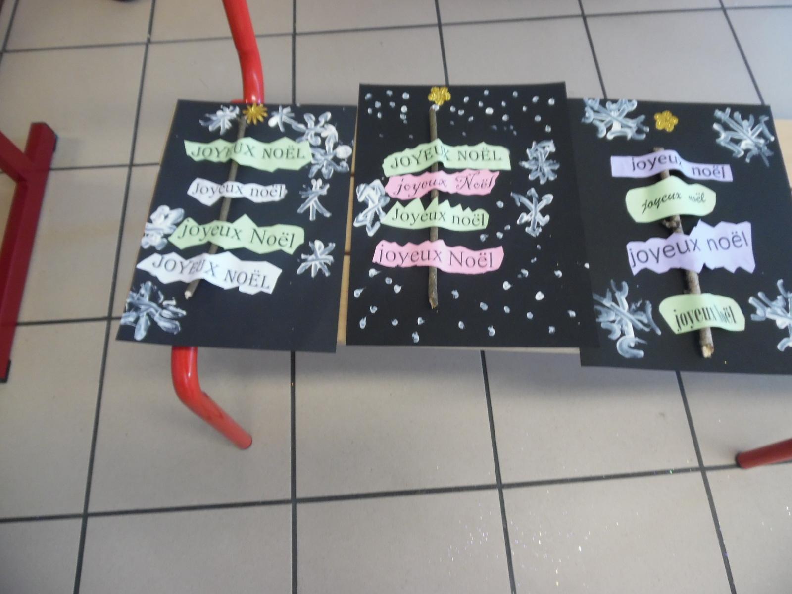 Cartes De Noël Des Gs/cp - Le Blog De Mouguerre Elizaberry concernant Carte Noel Gs